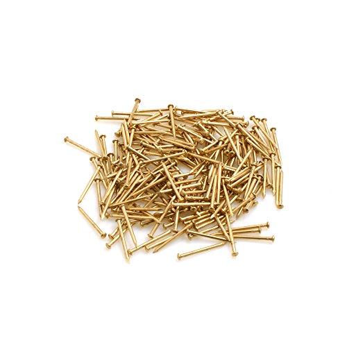 Design61 Rundkopfstifte Nägel Nagel 1,4 x 20 mm Eisen vermessingt ca. 300 Stück 75g