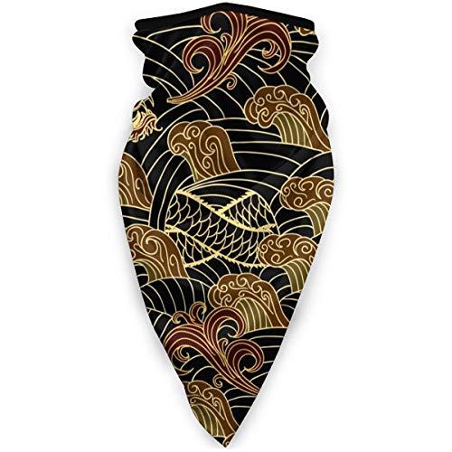 BJAMAJ Masque de sport traditionnel Dragon Doré Extérieur Visage Bouche Coupe-Vent Masque de Ski Masque Bouclier Écharpe Bandana Hommes Femme