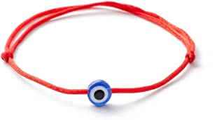 Red String Kabbalah Evil Eye Charm Bracelets for Protection and Luck Adjustable Hand-Woven Red Cord Thread Friendship Bracelet Amulet Baby Jewelry (H Style)