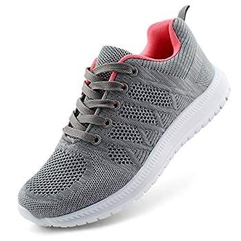JABASIC Women Lightweight Knit Running Shoes Athletic Walking Sneakers  10,Grey