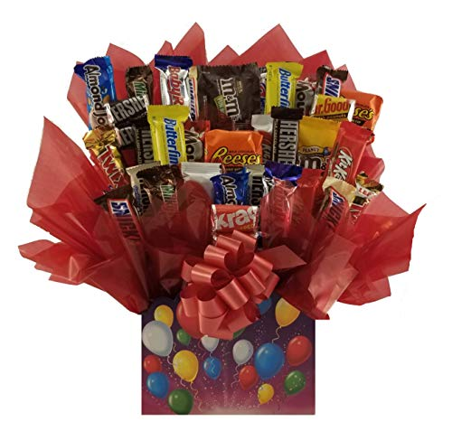 Celebration Chocolate Candy Bouquet gift box