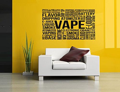 Wall Vinyl Sticker Decal Vaporizer Vape Collage Word Phrase Quote Pen Store Shop Smoke E Cigarettes Liquid Coil Indoor Outdoor Sign Logo SA752