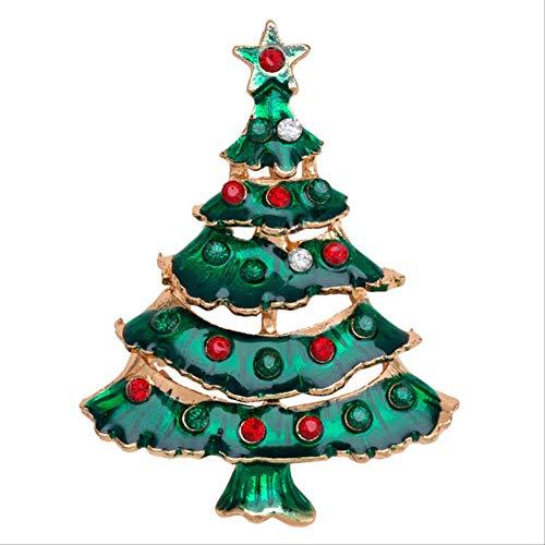 Geen Merk Kerstmis Broches Kerstman Strass Pak Pin Badges Broches Nieuwjaar Gifts Party Als Getoond Foto Kleur