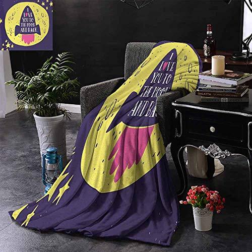 GGACEN bont gooien deken Retro Hot Air Balloon met Romantische Vintage Reis Phrase Potlood Tekening Stijl Binnen/buiten, Comfortabel voor alle seizoenen