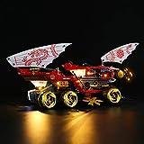 JTTM Conjunto de iluminación LED para (Ninjago Land Bounty Vehicle) Bloques de construcción Modelo - Kit de luz Compatible con Lego 70677 (no Incluido Modelo Lego)