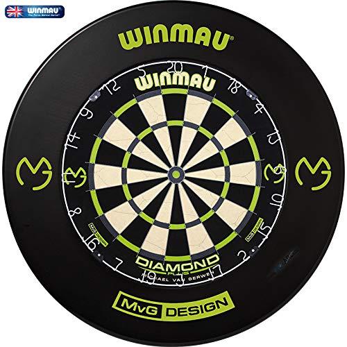 GOKarli Winmau MvG Diamond Edition Michael Van Gerwen Bristle Dart Board Dartboard Dartscheibe & Surround - Komplettset