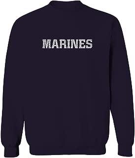 USMC Marines Marine Corps United State Military Fonts Men's Crewneck Sweatshirt