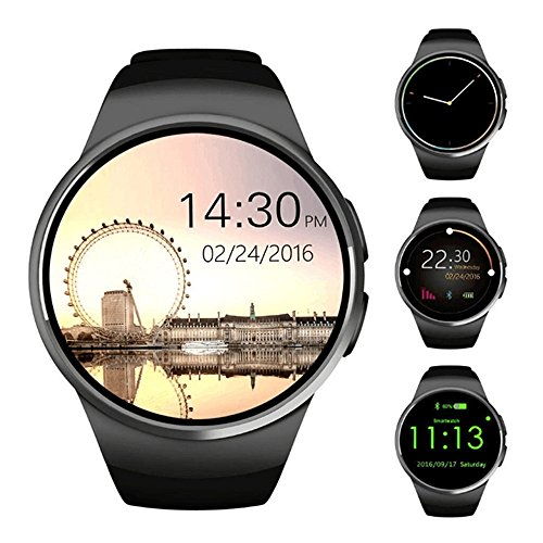 Smartwatch Teléfono Mate, Smart Watch para las mujeres, Smart Watch Fitness Tracker / Notificaciones de sincronización / cámara remota (Negro)