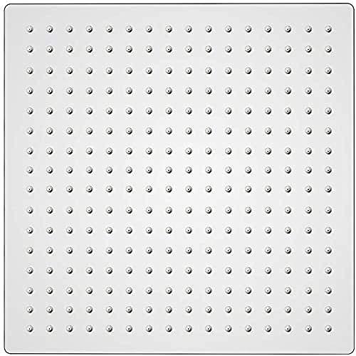 GRIFEMA, Soffione Doccia a Pioggia,Doccia Fisso Grande Quadrato, 30 x 30 cm, Acciaio, Cromo [Exclusiva Amazon]