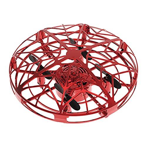 Cavo di Ricarica USB, UFO Mini Drone Sensore a infrarossi UFO Flying Toy Aereo a induzione Quadcopter per Bambini Giocattoli da Gioco per Bambini (Rosa)
