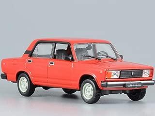 VAZ-2105 Lada Riva Red 1980 Year Soviet Sedan USSR 1/43 Scale Collectible Model Car