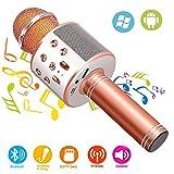 Phiraggit Microfono Karaoke Bluetooth, Wireless Microfono con Altoparlante, Bluetooth Kara...