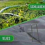 GardenGloss® Erdanker unverzinkt - Stabile Bodenanker für Unkrautvlies, Gartenvlies, Zaun & Netz - 150 MM Lang, 25 MM Breit, Ø 2.7 MM (100 Stück) - 6