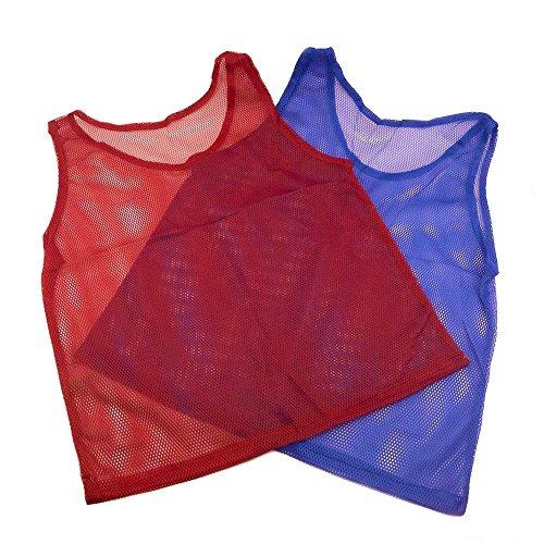 Hansi Naturals Nylon Mesh Scrimmage Jerseys Pinnies - 12 Pieces Red...