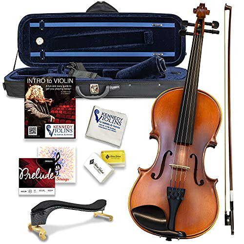 Bunnel Premier Violin Clearance Outfit 4/4 Full Size - Carrying Case and Accessories...