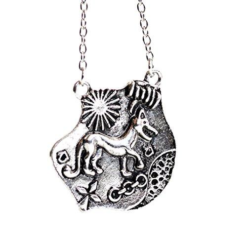 """Gioiello ispirato alla serie televisiva """"Teen Wolf"""": ciondolo in argento, di Allison Argent, raffigurante il sigillo dei cacciatori di licantropi"""