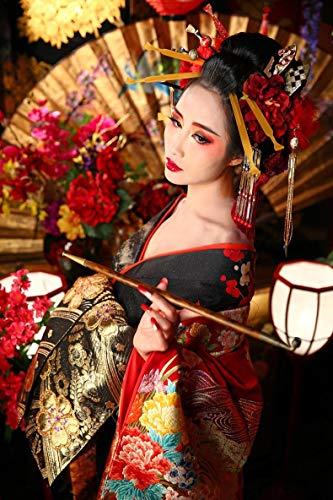 ATggqr Mini Puzzles de 1000 Piezas 50x75cm Geisha Japonesa Difícil y Desafiante Juguete Creativo Puzzle Regalos de Rompecabezas para la Damilia
