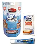 Instant Smile Comfort Natural Shade Flex Upper and Natural Shade Lower Veneers Complete Set with Denture Cream