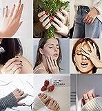 Milacolato 14pcs Femmes en Acier Inoxydable Plaine Bande Knuckle Superposables Anneaux Midi Ajustement Confortable Ton Argent/Or