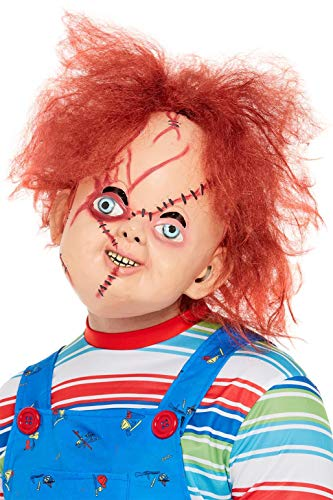 Smiffys 50264 Officially Licensed Chucky Latex Mask, Men, Brow