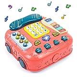 Juguetes Bebe Montessori Teléfono Juguete Musical - 5 en 1 Instrumentos Musicales Infantiles Interactivos Multifuncional Juegos Educativos Piano Juguetes Regalos para Niños Niñas 3 4 5 Años