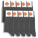 GSOTTA 10er Pack Premium Socken, Business-Socken für Damen und Herren, unisex, Strümpfe aus Baumwolle, Arbeitssocken mit weichem B&, in Grau, Größe 39-42