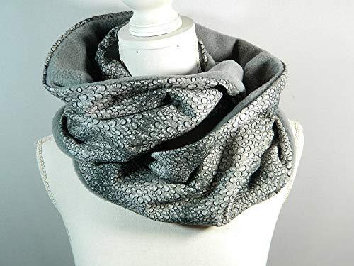 Loop-Schal grau Regentropfen Wasser Grafik Rundschal Halstuch Tücher