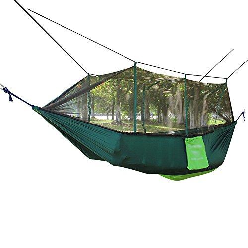 Hammock Hamac/Anti-Moustique Double Parachute en Tissu avec hamac Type moustiquaire/Porteur d'environ 400 Livres (260 * 140cm / 4 Couleurs) (Couleur : D)