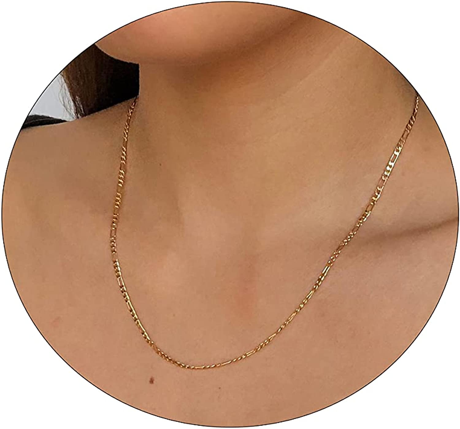 Carovo Dainty Gold Chain Choker Necklace Women Cheap mail order specialty store for 18K Plat Weekly update