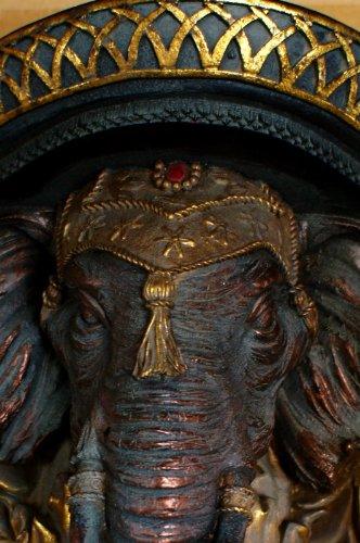 Antikas - Konsole, Wandkonsole, indisch Regalträger, Elefant des Maharadja Regal Indien