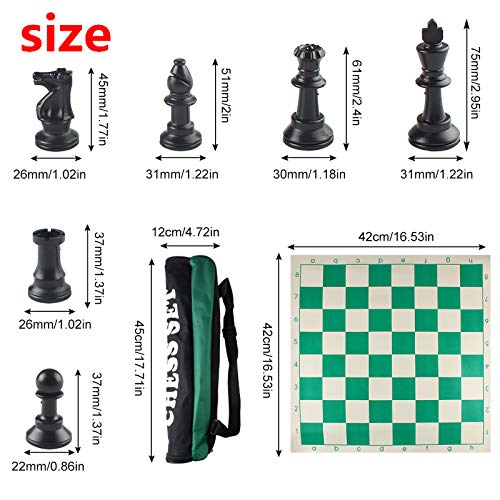Andux Roll-up Chess Set avec Sac à...