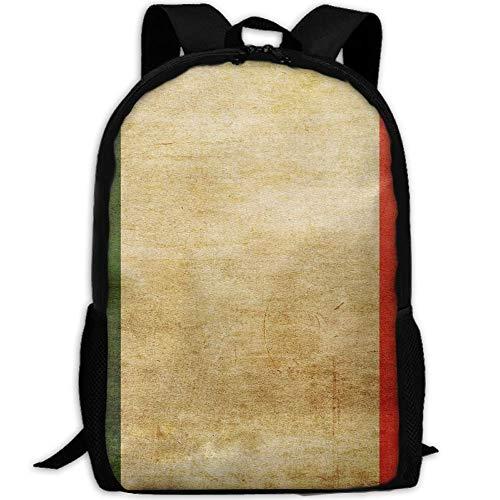 Alte italienische Flagge Erwachsenen Reise Rucksack Schule Bookbag Casual Daypack Oxford Outdoor Laptop Tasche Computer Umhängetaschen