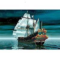 木製パズル海を航行するヨット大人のための1500ピースジグソーパズル子供子供