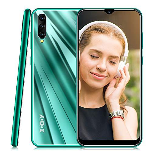 Smartphone Ohne Vertrag,Xgody A90 Handy mit 6.53 Zoll HD(19:9) Wassertropfen Bildschirm,Android 9.0 Mobile Phone,Dual SIM Frei Entriegelt Handy,2GB RAM + 16GB ROM (Grün)