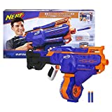 Infinus Nerf N-Strike Elite Toy Motorized Blaster with Speed-Load Technology, 30-Dart Drum, and 30 Official Nerf Elite Darts for Kids, Teens, and Adults