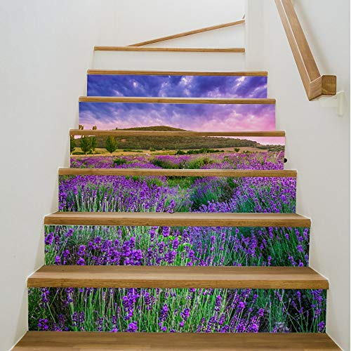 JCCOZ-URG Etiqueta de la Pared de baldosas de baño del azulejo de la Etiqueta engomada de la decoración Escaleras Escaleras Vinilo de la decoración de la Etiqueta Pegatinas de Escalera extraíble 7''x