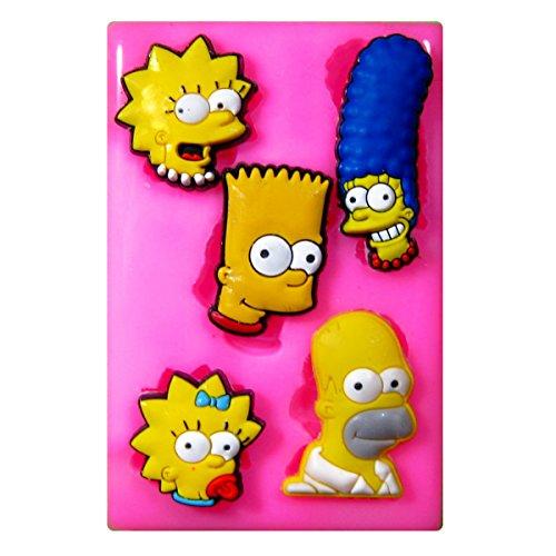Simpsons Familie Silikon Form für Kuchen Dekorieren, Kuchen, kleiner Kuchen Toppers, Zuckerglasur Sugarcraft Werkzeug durch Fairie Blessings