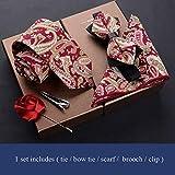 CEKINF Corbata De Lazo Hombres De La Boda Bow Tie Imprimir Corbata Set Moda Camisa De Fiesta Accesorios De Negocios Regalo De Los Hombres Creativos04 Set