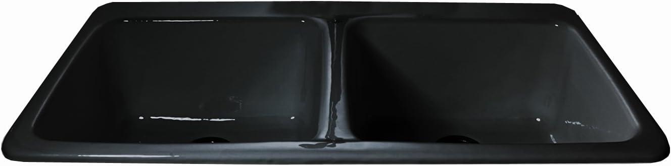 CECO Sinks-Big Corona 743-4 Double Bowl K Dealing Cheap bargain full price reduction Cast Rimming Self Iron