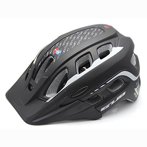 MIAO Casco da bicicletta - Equipaggiamento per la protezione della sicurezza in bicicletta in mountain bike Caschi integrati con insetto , black