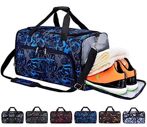FANCYOUT Sports Gym Bag with Shoes Compartment & Wet Pocket, Travel...