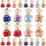 24 Pieces Stuffed Animals Plush Bears, Mini Plush Bear Stuffed Animal Bulk Toys Mini Bear Stuffed Animal Bulk Assorted Toys for Birthday Cake Wedding Decorations Party Favors Supplies