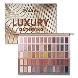 UCANBE 60 colores Honey Shimmer Paleta de sombras de ojos Luxury Gathering Smoky Pigmento de larga...