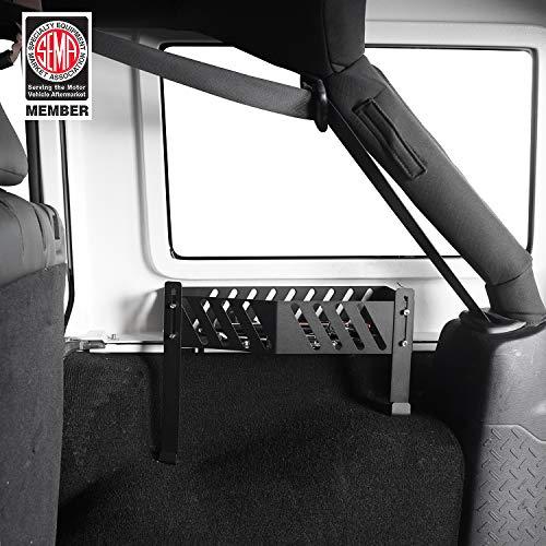 Hooke Road Extra Storage Bracket Wheel Well Bin Right Side Organizer Box for 2007-2018 4-Door Jeep Wrangler JK Unlimited