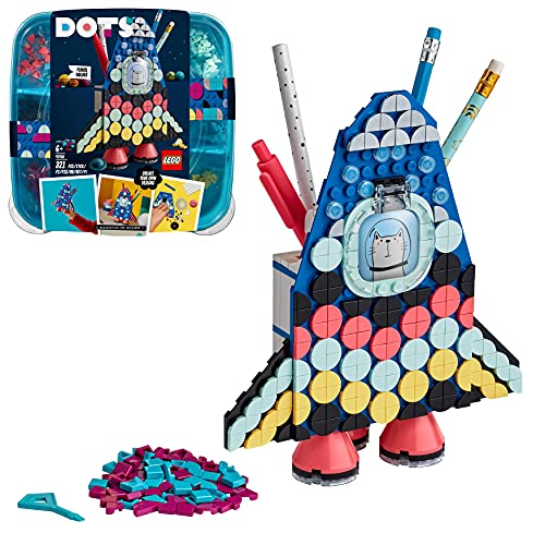 LEGO DOTS Portamatite, Kit Lavoretti Creativi per Bambini, Accessori da Scrivania, Decorazioni Cameretta Fai da Te, 41936