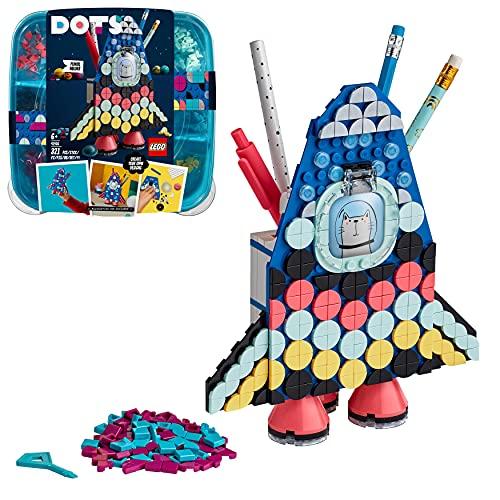 LEGO 41936 Dots Portalápices Cohete Espacial, Accesorios de Escritorio DIY,...