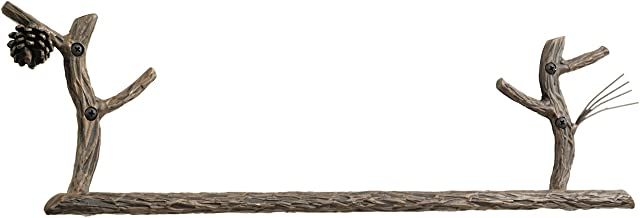 "product image for Pine Towel Bar 16""-Antique Copper"