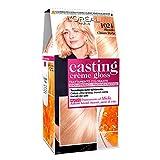 L'Oréal Paris Casting Creme Gloss, tratamiento colorante para el cabello, sin amoniaco para una fragancia agradable. Biondo Chiaro Perla 1021