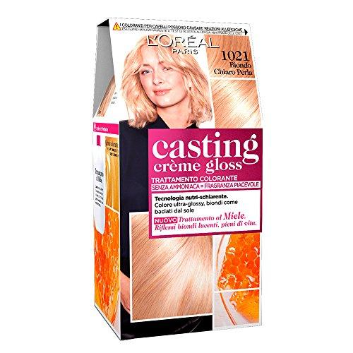 L'Oréal Paris Casting Crème Gloss Colore Trattamento senza Ammoniaca, 1021 Biondo Chiaro Perla