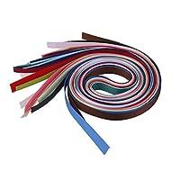 【ノーブランド 品】18枚 工芸品 DIY マルチカラー 6mm ピース グログラン リボン 手芸材料 工芸品
